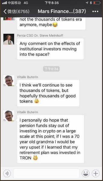 Chat Justin Sun was referring to | Source: Twitter