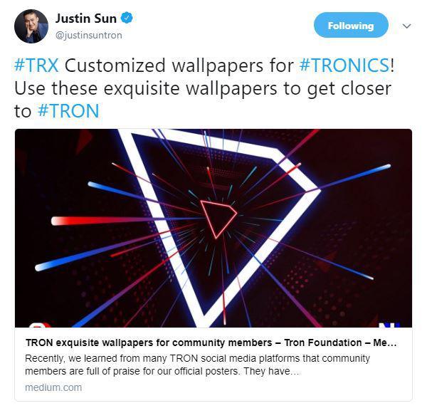 Justin Sun's Tweet | Source: Twitter