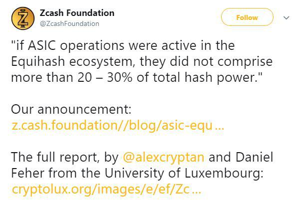 Zcash foundation official announcemnet. Source: Twitter