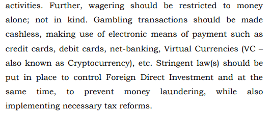 Legal Framework: Gambling and Sports Betting including Cricket in India | Source: Law Commission of India