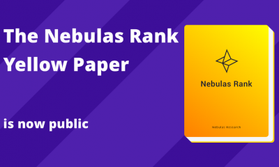 """""""The Nebulas Rank Yellow Paper"""" is now public, providing the blockchain world with a more complete value measurement system"""