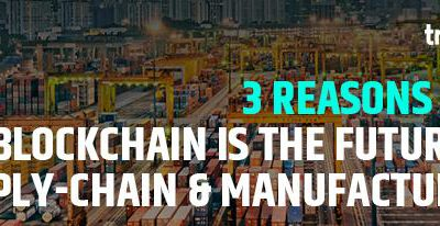 3 reasons why blockchain is the future of supply-chain [SCM] and Manufacturing