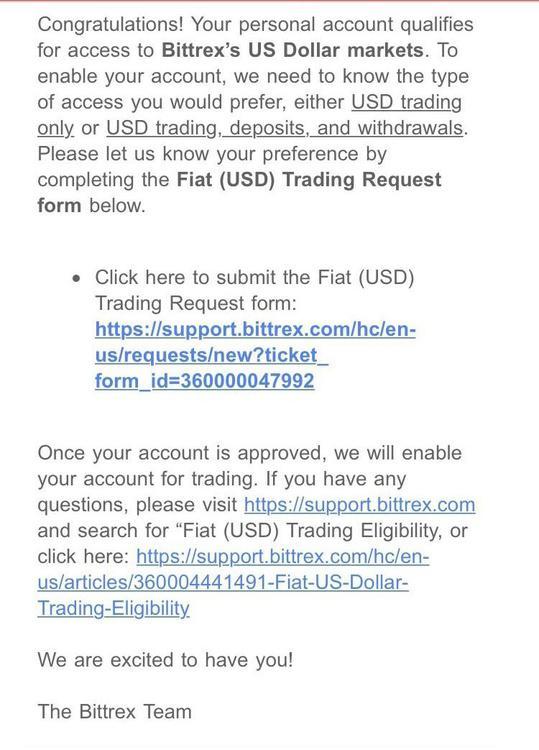 Bittrex Торговля на рынке США || Источник: Reddit