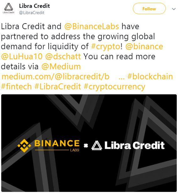 Libra Credits's tweet | Source: Twitter