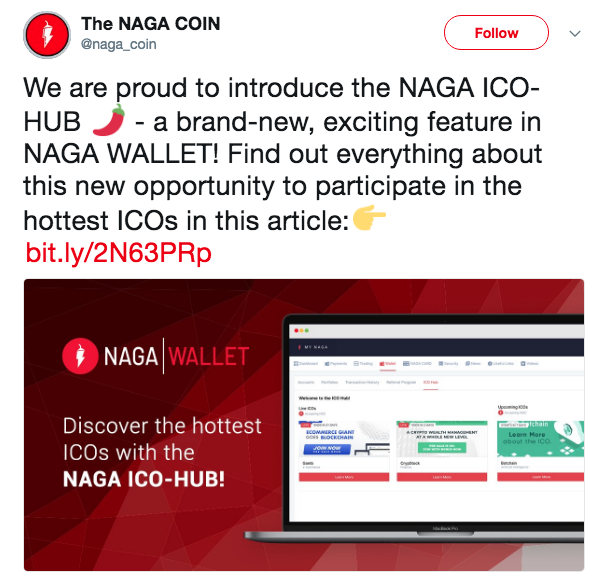Post by The NAGA COIN on Twitter   Source: Twitter