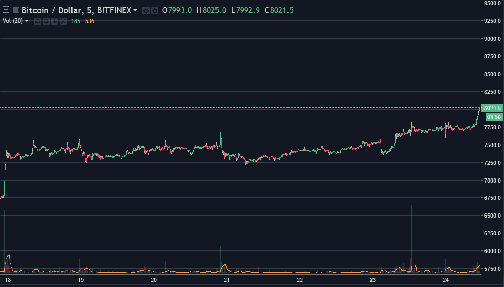 Bitcoin [BTC] price graph | Source: TradingView