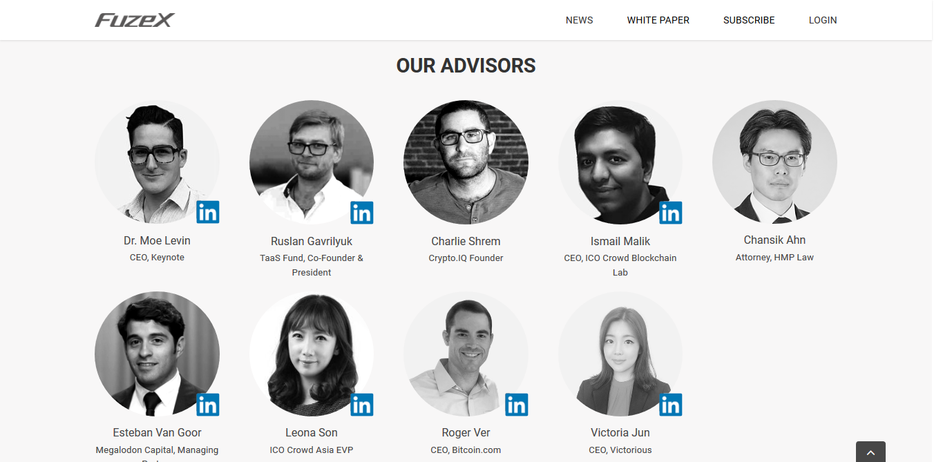 Advisors of FuzeX | Source: FuzeX