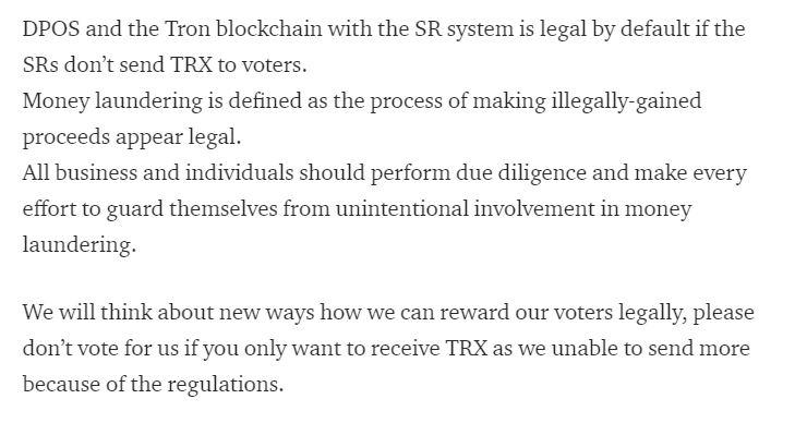 Statement published by TrxDex || Source: TrxDex medium blog