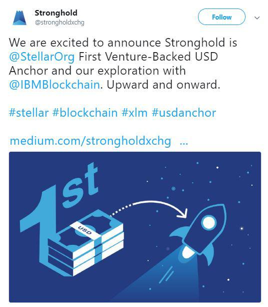 Stronghold's tweet about the announcement | Source: Twitter