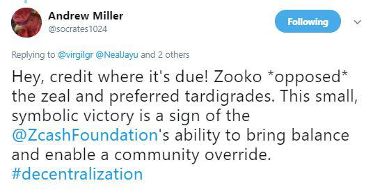 Foundation Chairman Andrew Miller's witty comment | Source: Twitter