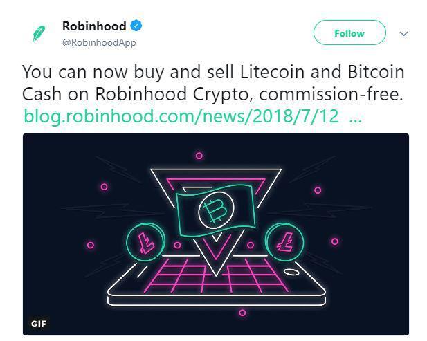 Robinhood's Tweet | Source:Twitter