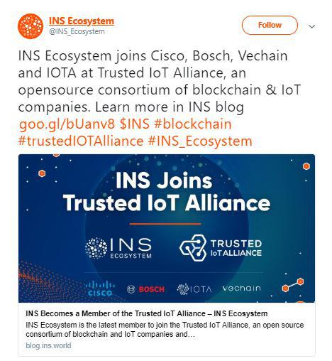 INS Ecosystem's tweet | Source: Twitter