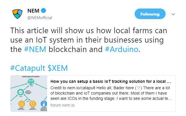 NEM's tweet | Source: Twitter