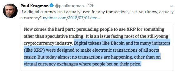 Paul Krugman's tweet | Source: Twitter