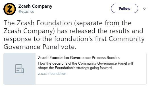 Zcash's announcement | Source: Twitter