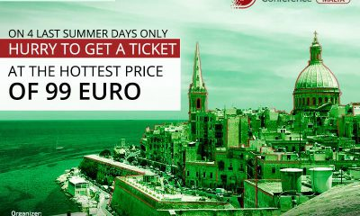 Say good-bye to summer with discounts! First 50 tickets to Blockchain & Bitcoin Conference Malta for 99 EUR each