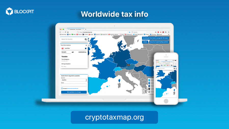 Interactive map for cryptocurrency taxation launched