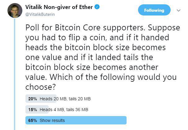 Vitalik Buterin's tweet | Source: Twitter
