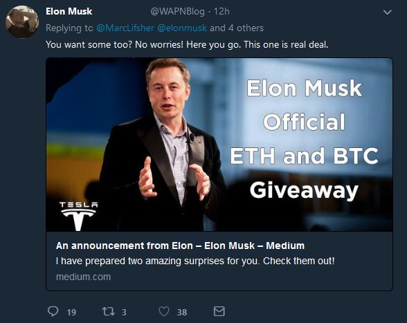 Elon Musk's tweet   Source: Twitter