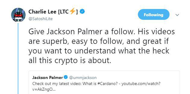 Charlie Lee's original tweet | Source: Twitter