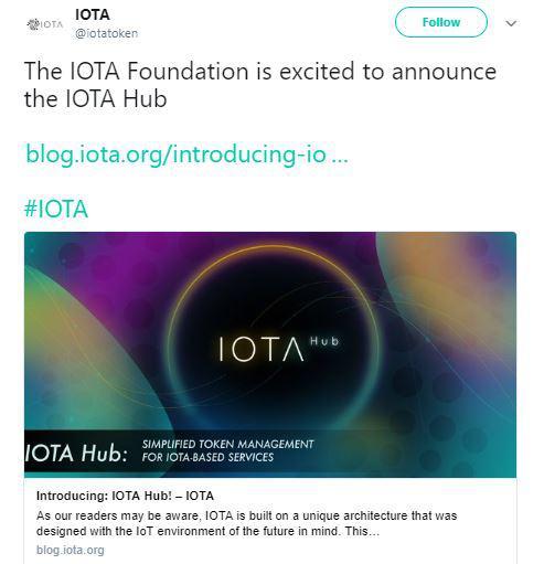 IOTA's tweet | Source: Twitter