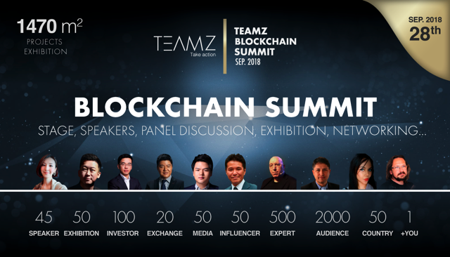 TEAMZ Blockchain Summit bringing brings trusted investors, blockchain projects, exchanges, media platforms, and key figures