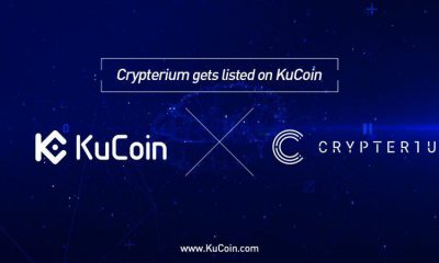 KuCoin Exchange Announces The Listing of Crypterium (CRPT)