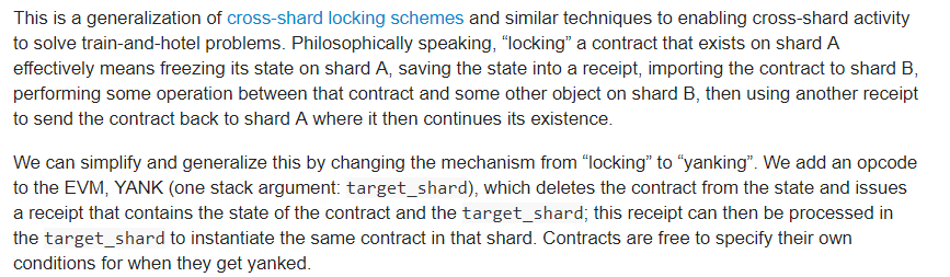 Vitalik Buterins proposal of Cross-shard contract yanking | Source: Ethereum official research page