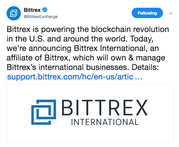 Bittrex expands to Malta