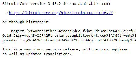 Snapshot of BTC update | Source: linuxfoundation.org