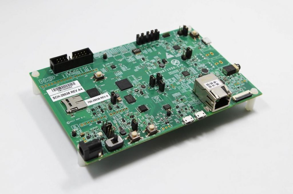 The NXP RT1050 MCU chipboard | Source: RuffChain