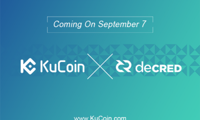Decred (DCR) Is Now Part Of KuCoin's Potential Tokens