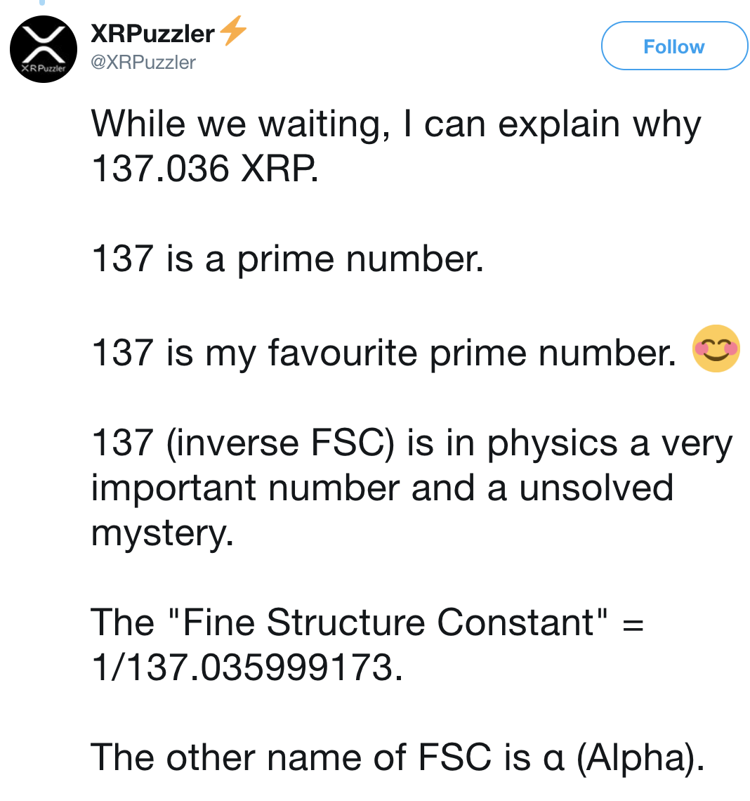 Kutlusoy's explains why 137 XRP | Source: Twitter