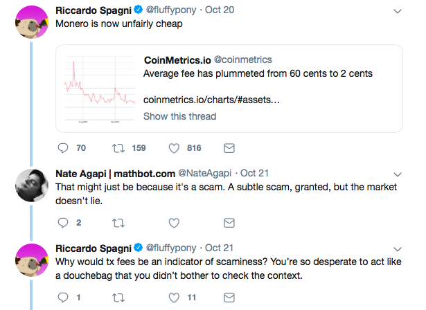 Initial Twitter conversation between the Agapi and Spagni | Source: Twitter