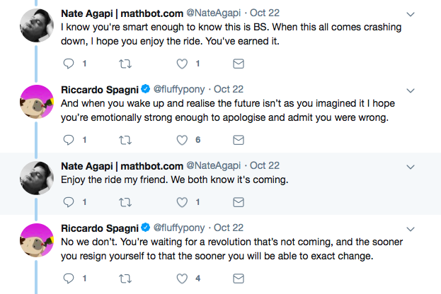 Conversation between the Bitcoin maximalist and the lead developer | Source: Twitter