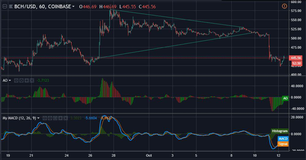 BCH 1-hour chart | Source: TradingView