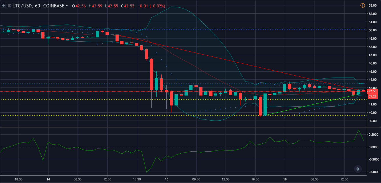 Litecoin [LTC] one-hour price chart | Trading View
