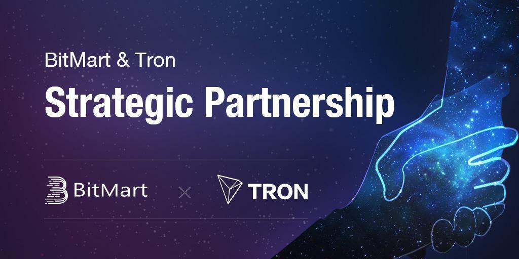 BitMart announces strategic partnership with Tron