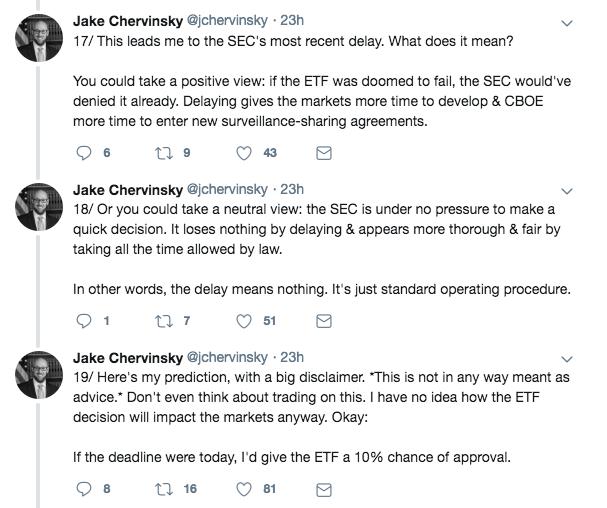 Jake Chervinsky tweet on the Bitcoin ETF | Source: Twitter