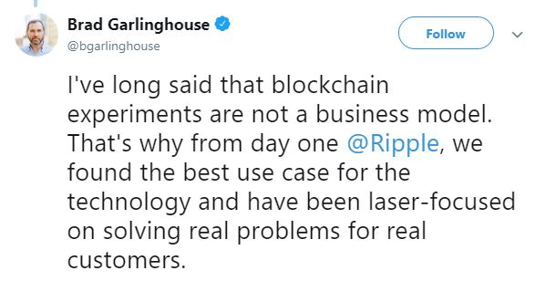Brad Garlinghouse's tweet | Source: Twitter