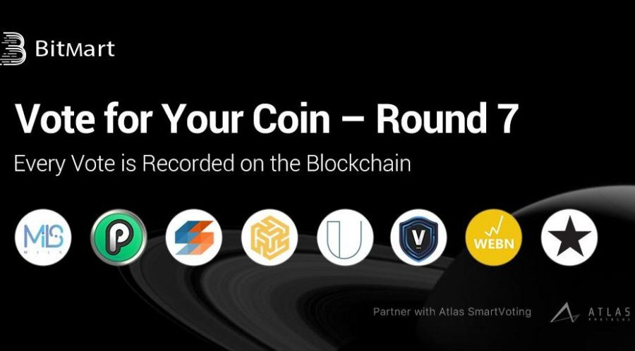 """BitMart """"Vote for Your Coin - Round 7"""" Vote on the Blockchain with Your First Vote Free!"""