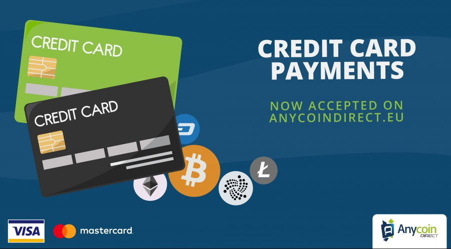 Anycoin Direct now accepts credit card payments on their platform