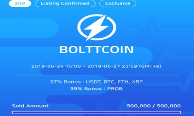 Top 5 IEO platform ProBit Exchange sells out two consecutive rounds of Boltt Coin IEO, raising an incredible $278,000 in just three seconds