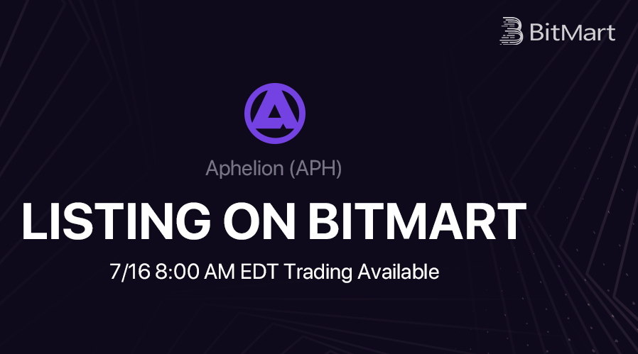 BitMart Lists Revolutionary Wallet Based P2P Trading DEX Aphelion (APH)